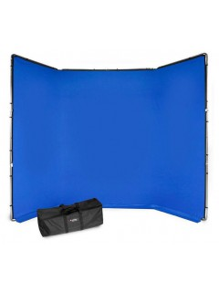 KIT DE FONDO CHROMA KEY FX AZUL 4m x 2.9m