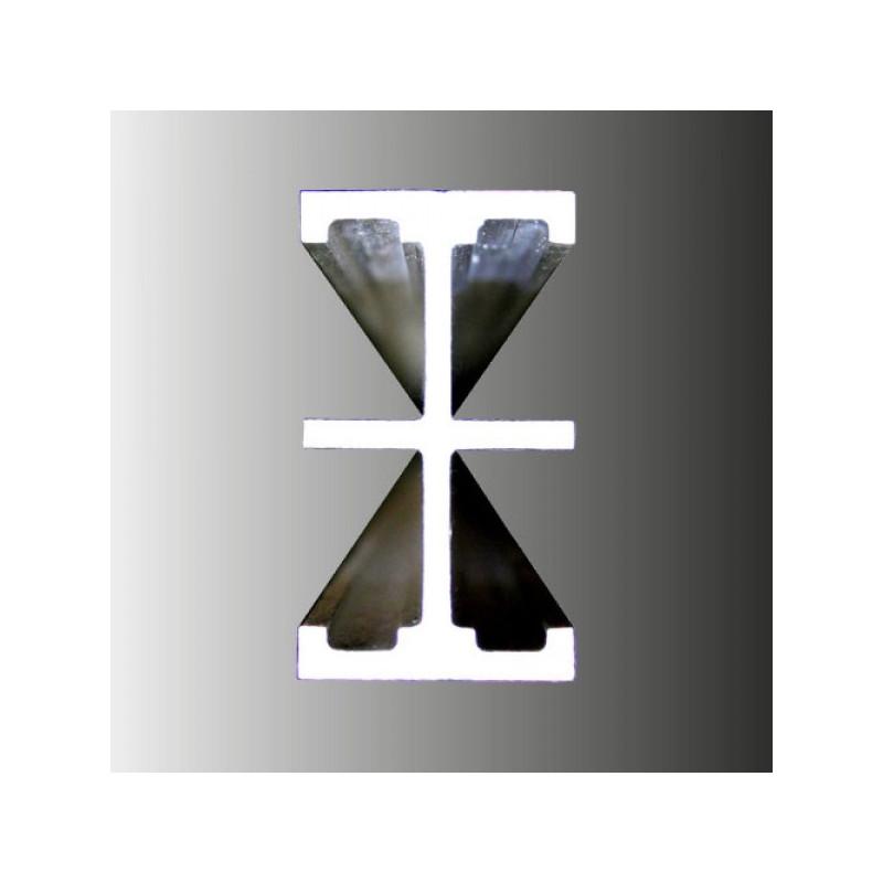 JUEGO 2 RAILES INDEFORMABLES con topes de 4,5m