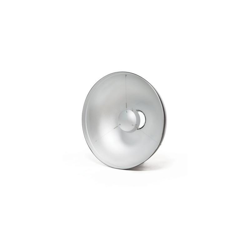 PARABOLA BEAUTY DISH PLATA incluye difusor 53 cm