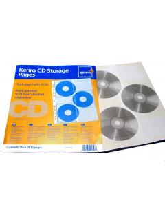 10 HOJAS de archivo para 3 CD's 30 Cd's