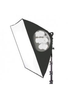 FOCO FLUORESPIRAL 7X32W + Caja de luz 60x60cm