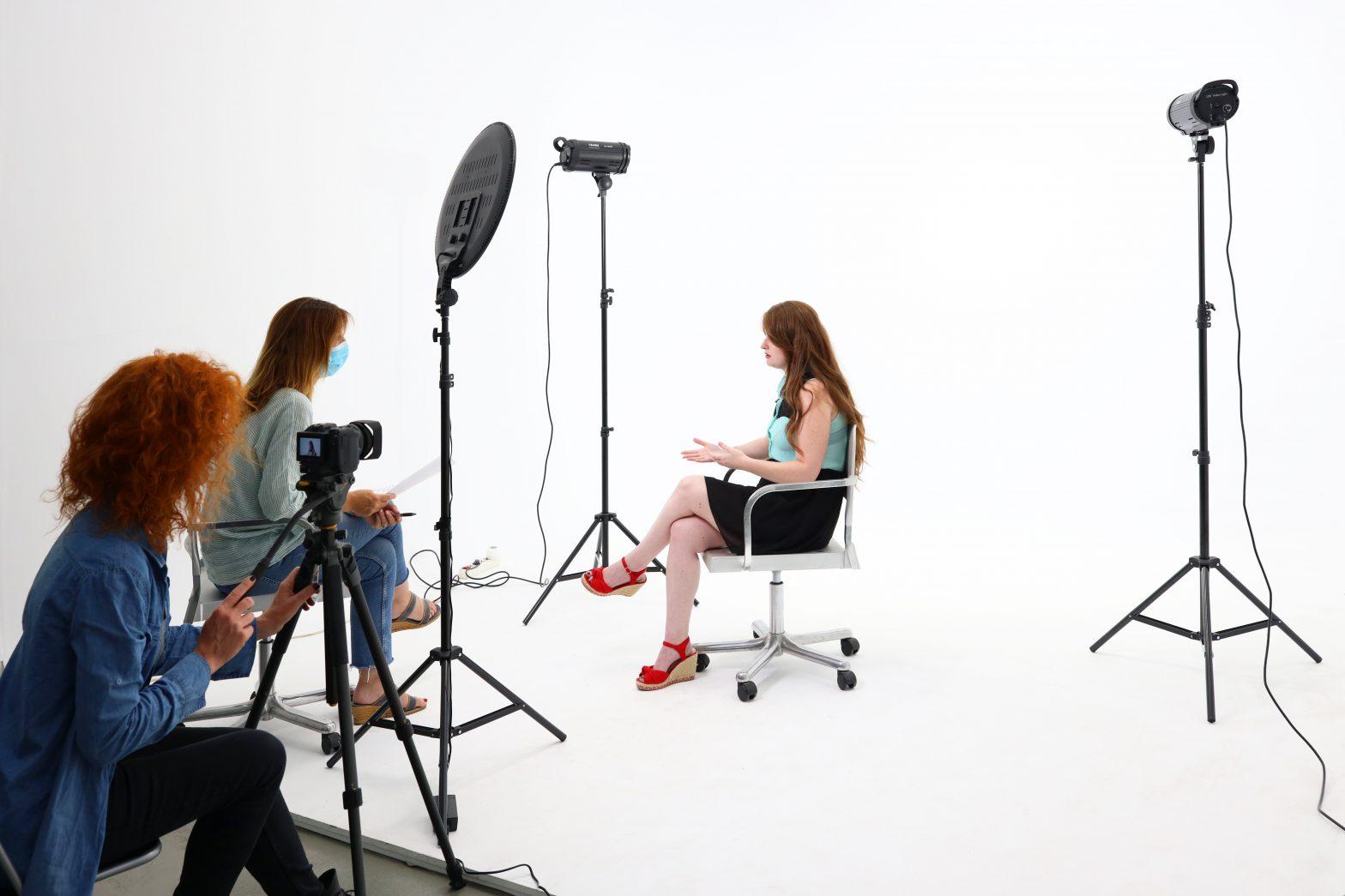 Iluminacion Led para una entrevista